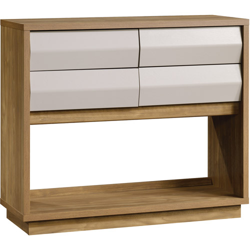 Sauder Soft Modern Collection Sofa Console Table, Fine Walnut