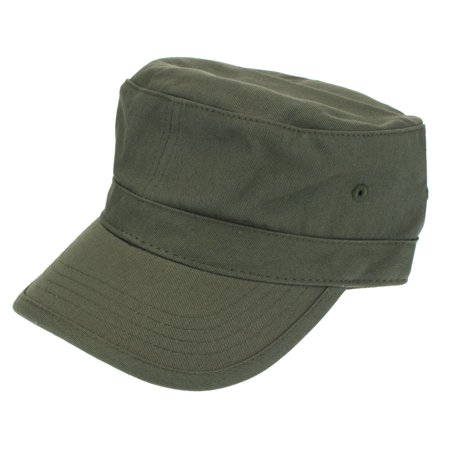 Mens Army Patrol Cotton Twill Field Cap Olive Green