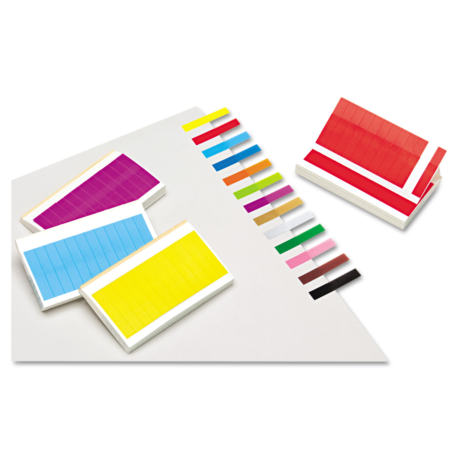 Redi-Tag Removable/Reusable Page Flags, 13 Assorted Colors, 240 Flags/Pack -RTG20202