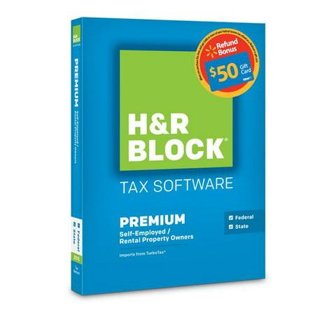 H Block Tax Software Premium 2015 Federal   State