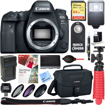 Canon EOS 6D Mark II 26.2MP Full-Frame Digital SLR Camera (Body Only) + 64GB Accessory
