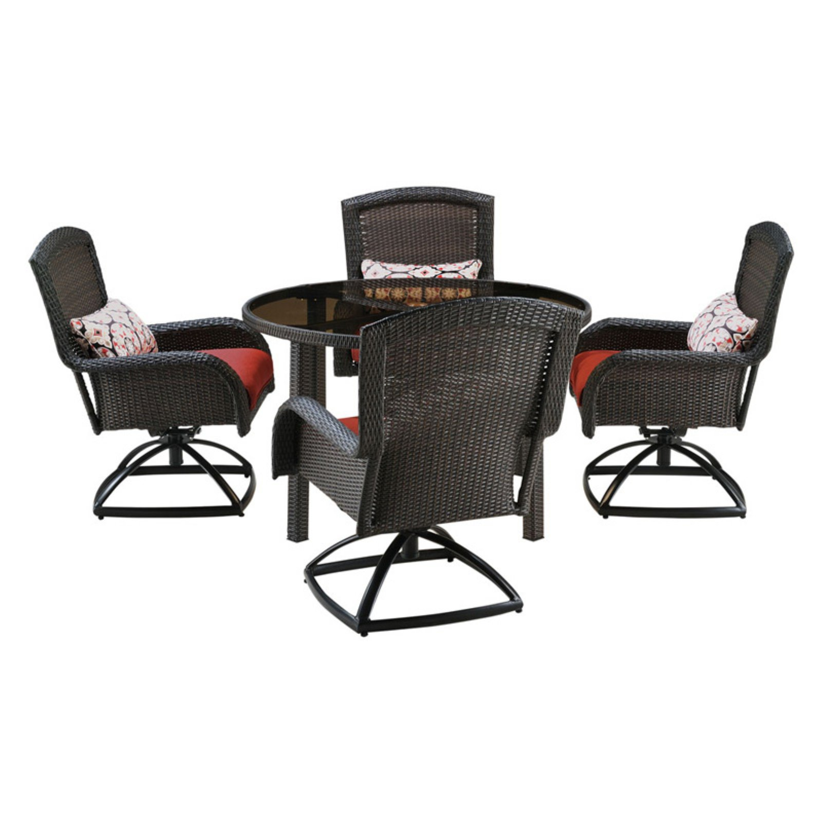 Hanover Strathmere Series Dining Set (5-Piece) Crimson Red STRADN5PCSW-RED