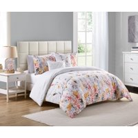 VCNY Home Misha Multi-Colored Floral Bedding Comforter Set, Decorative Pillows Included