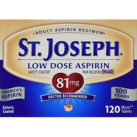 St. Joseph Low Dose Aspirin-- 81 mg - 120 Tablets
