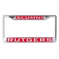 Rutgers Scarlet Knights WinCraft Alumni Inlaid Metal License Plate Frame