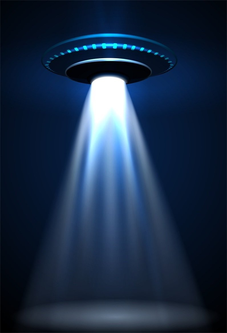 CSFOTO 5x3ft Area 51 Backdrop Flying Saucer UFO Alien Theme Birthday Background for Photography Alien Backdrop Boys Room Decor Boys Kids Birthday Party Photo Background