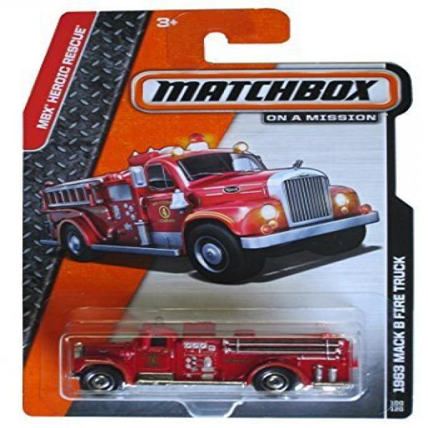 Matchbox 2014 On a Mission Mbx Heroic Rescue 1963 Mack B Fire Truck 100 120 by Mattel