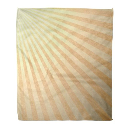 LADDKE Flannel Throw Blanket Gold Yellow Retro Striped Pale Abstract Pattern for Side Soft for Bed Sofa and Couch 50x60 Inches ()