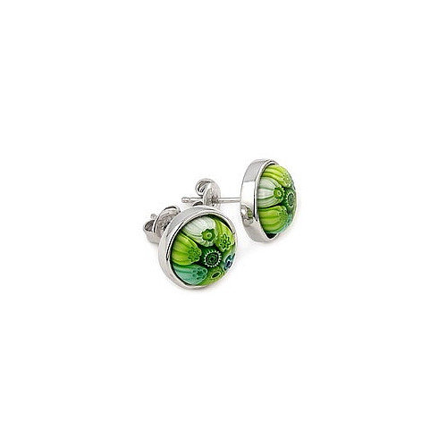 Plutus Partners Millefiori Glass Stud Earrings