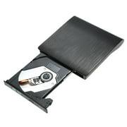 Lecteur externe ultra-mince de gravure de graveur de graveur de CD-ROM USB 3.0 USB 3.0 Lecteur Blu-Ray 3D pour Linux Windows Mac OS Noir