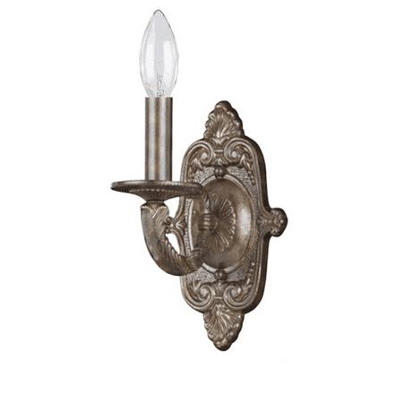Wall Sconces 1 Light With Venetian Bronze Hand Cut Wrought Iron 6 inch 60 Watts - World of Lighting