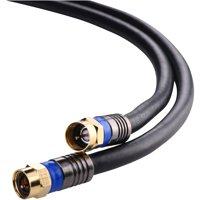 Blackweb Rg6 Quad Shield Coaxial Cable, 250'