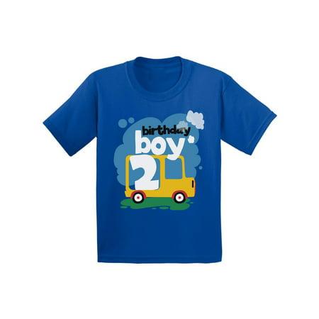 Awkward Styles Birthday Boy Infant Shirt Toy Truck Tshirt for Baby 2nd Birthday Party Truck Gifts for 2 Year Old Baby Boy 2nd Birthday Party Outfit Birthday Shirt for Baby Boy Truck Themed