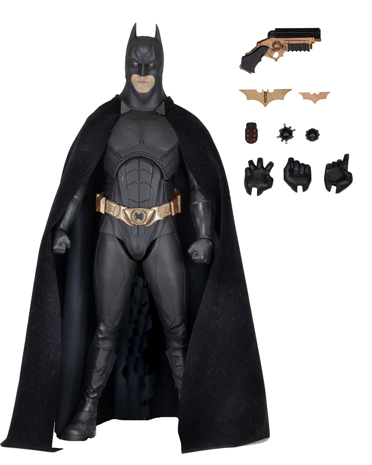 Batman Begins 1 4 Scale Action Figure �� Batman (Christian Bale) by Neca