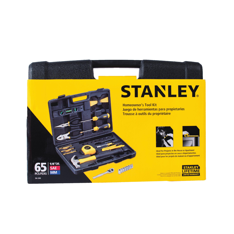 STANLEY 94-248 Homeowner\'s 65-Piece DIY Tool Kit