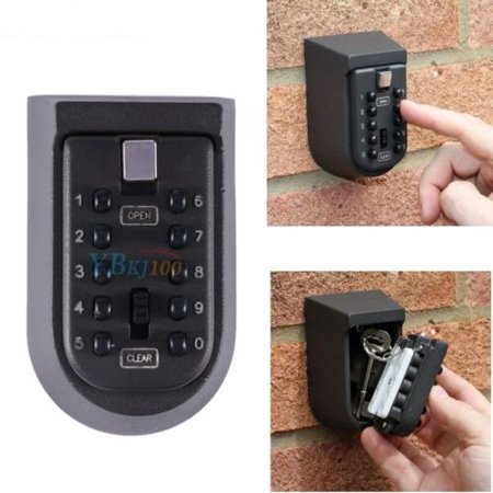 Outdoor Key Safe Box Combination Security 10-Digit Keys Holder Lock Wall Mounted for Car (Best Wall Safe For Home)