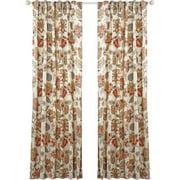 Belle Maison Celine Lined Printed Backtab Rod Pocket Single Curtain Panel