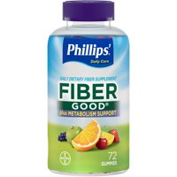Phillips' Fiber Good Daily Supplement + Metabolism Support Gummies, 72 Count