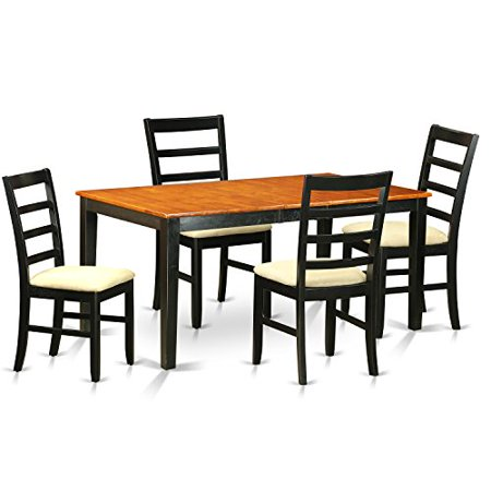 pc dining room table set table with leaf and 4 dining room chairs