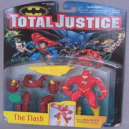 DC Comics Year 1996 Batman Total Justice 5 Inch Tall Action Figure - The FLASH with Velocity Power Suit