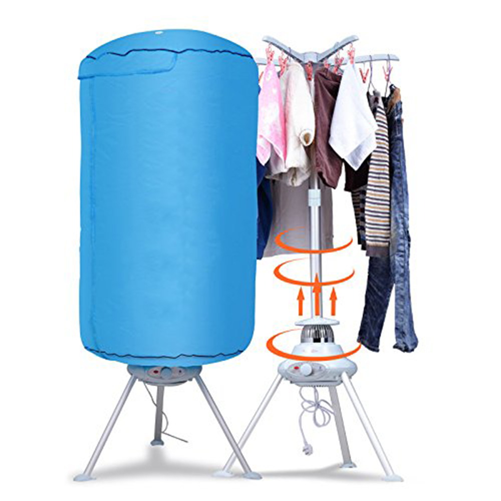 Jeobest Portable Clothes Dryer Heater Electric Drying Rack Folding Dryer  Quick Dry Ventless Wrinkle Laundry Hot Air Machine For Homes