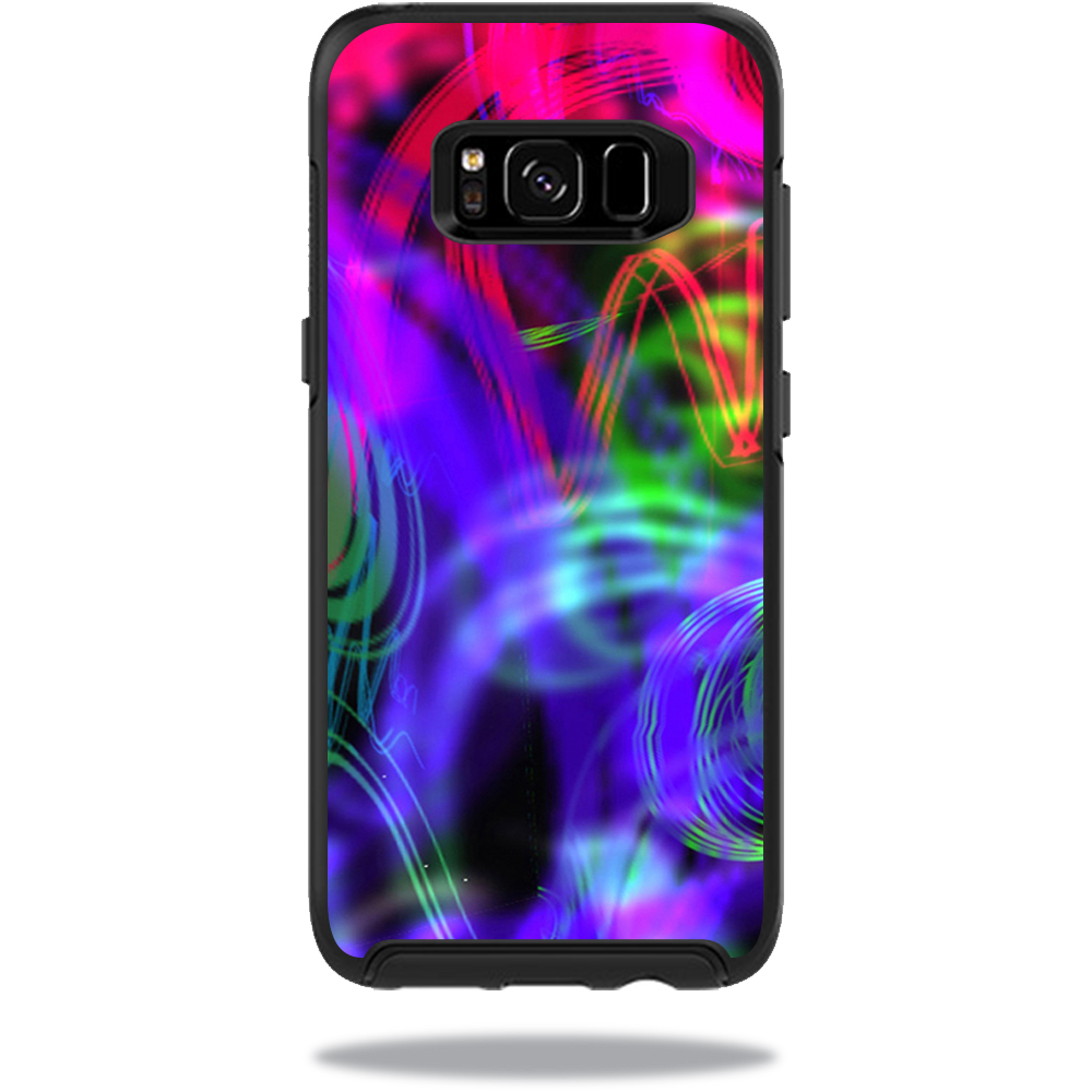 MightySkins Protective Vinyl Skin Decal for OtterBox SymmetrySamsung Galaxy S8 Case sticker wrap cover sticker skins Neon Splatter