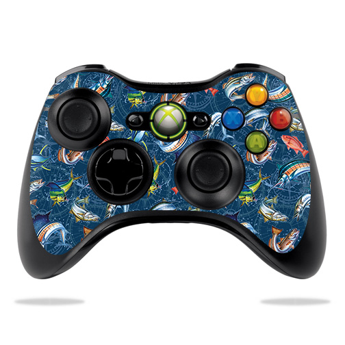Skin Decal Wrap for Microsoft Xbox 360 Controller Saltwater Compass