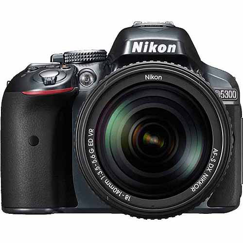Nikon Grey D5300 DSLR Camera with 24.2 Megapixels, Body Only