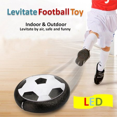 Kids Toys Training Electric Football With Parents Game Children Toys Air Power Soccer Disk Foam Bumpers Indoor Outdoor Lighted Hover Ball Floating Soccer Game with LED Up Flashing Lights (Decorative Disco Balls)