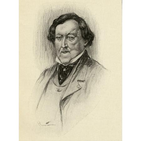 Gioacchino Antonio Rossini 1792-1868 Italian Composer Portrait By Chase Emerson American Artist 1874-1922 Canvas Art - Ken Welsh Design Pics (13 x 17)