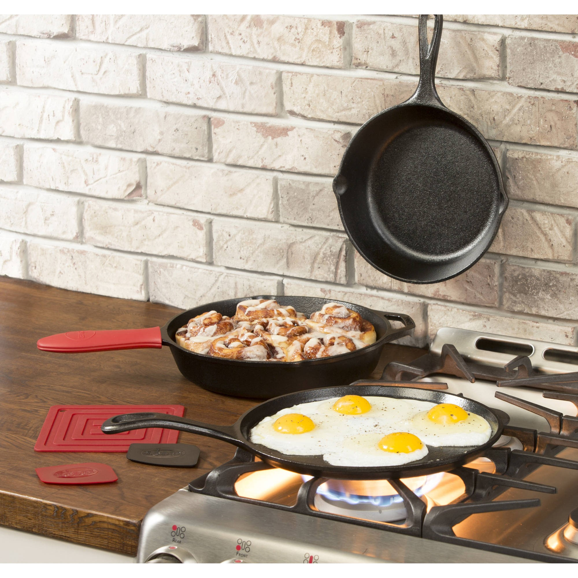 Lodge Logic Essential Skillet Set, L6SPB41, Six-Piece Set