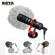 BOYA BY-MM1 Mini Cardioid Microphone Metal Electret Condensor Video Mic 3.5mm Plug for Smartphone Tablet PC DSLR Camera