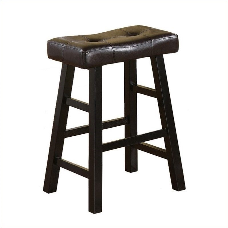 Poundex Country 24 Quot Counter Stool In Espresso Set Of 2