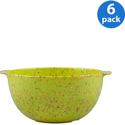 "Zak! Eco-friendly Sprinkles 7"" Bowl, Set of 6"