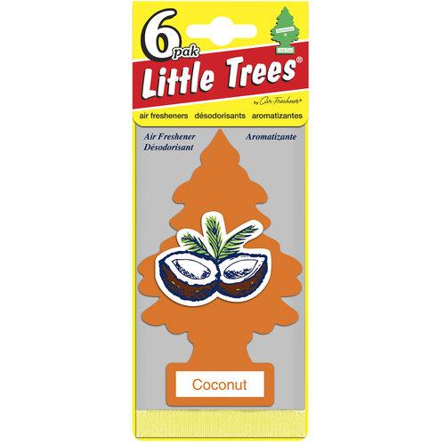 Little Tree Air Freshener, 6pk, Coconut