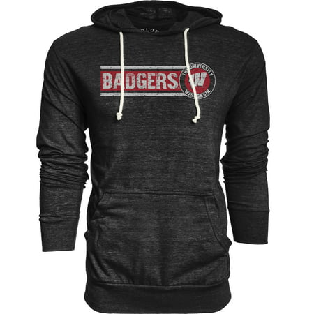 - Wisconsin Badgers Adult NCAA Big Soft Story Hooded Long Sleeve Pullover - Black