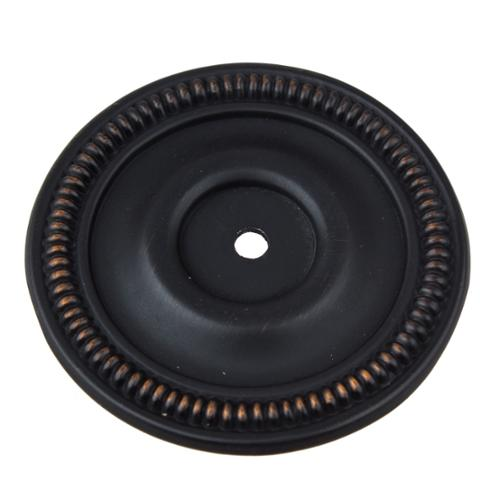 GlideRite  2.5-inch Oil Rubbed Bronze Round Backplate