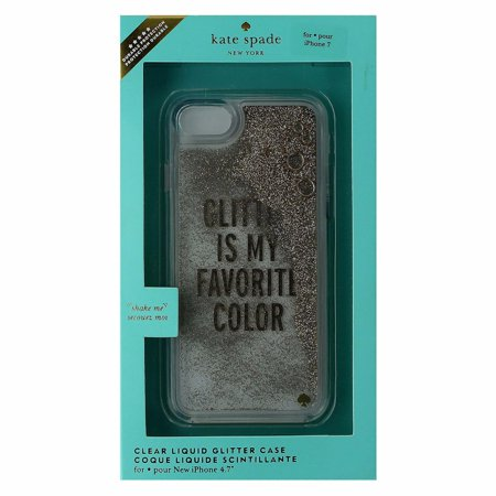 finest selection 1d6d4 ec1ce Kate Spade Glitter Case for Apple iPhone 7 - Glitter is My Favorite Color  (Gold)
