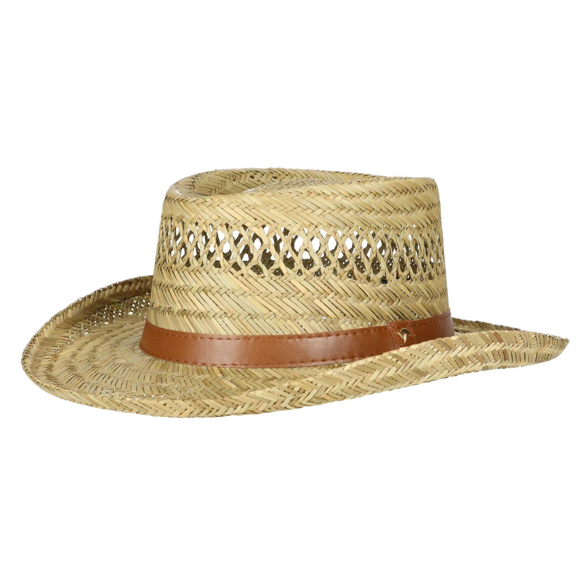 Dorfman Pacific Rush Straw Lightweight Gambler Hat with Wide Brim 1151559e5167