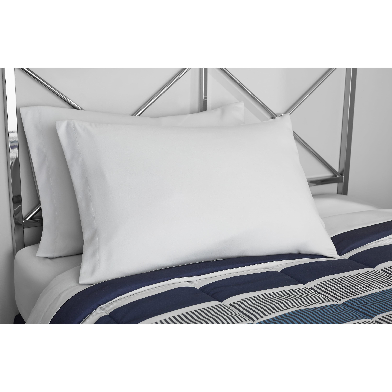 Full Size Comforter Set Blue Stripe Bed in a Bag 8 Pc Bedding Bed Sheets Shams