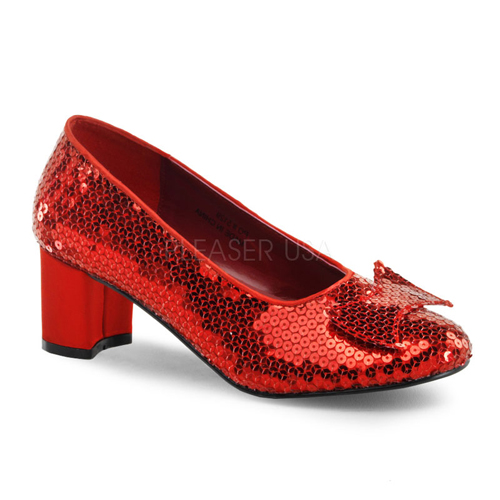 """Womens Halloween Dorothy Red 2"""" Heeled Shoes size 7"""