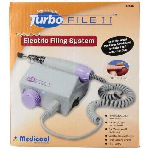 Medicool Turbo File II Professional Electric Mani and Pedi Nail Filing System
