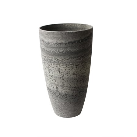 Algreen Acerra Planter, Curved Vase Planter, 11.5-In. Diameter by 20-In. H, Marble