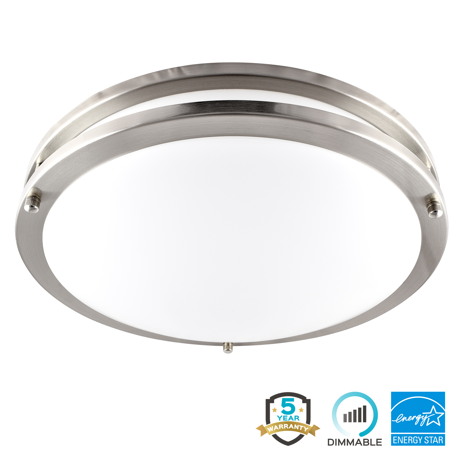 Luxrite LED Flush Mount Ceiling Light, 14 Inch, 22W, 3000K (Soft White), Dimmable, 1652 Lumens, Ceiling Light Fixture,... by Luxrite