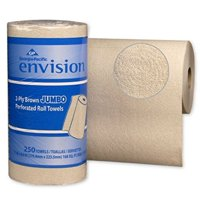 Envision Kitchen Paper Towel 28290, 8.8 x 11 Inch, 2-Ply, Case of 12, Brown