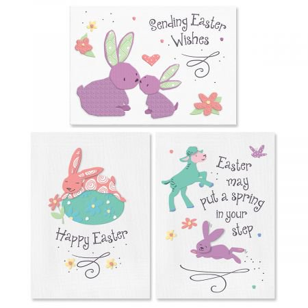 - Bunny Smiles Easter Greeting Cards - Set of 6 (3 designs), Large 5