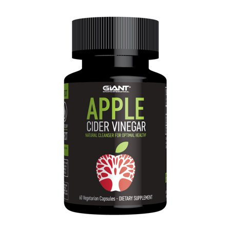 Giant Sports Apple Cider Vinegar Pill with Cayenne Pepper Extract, 60 Count (Giant Pepper)