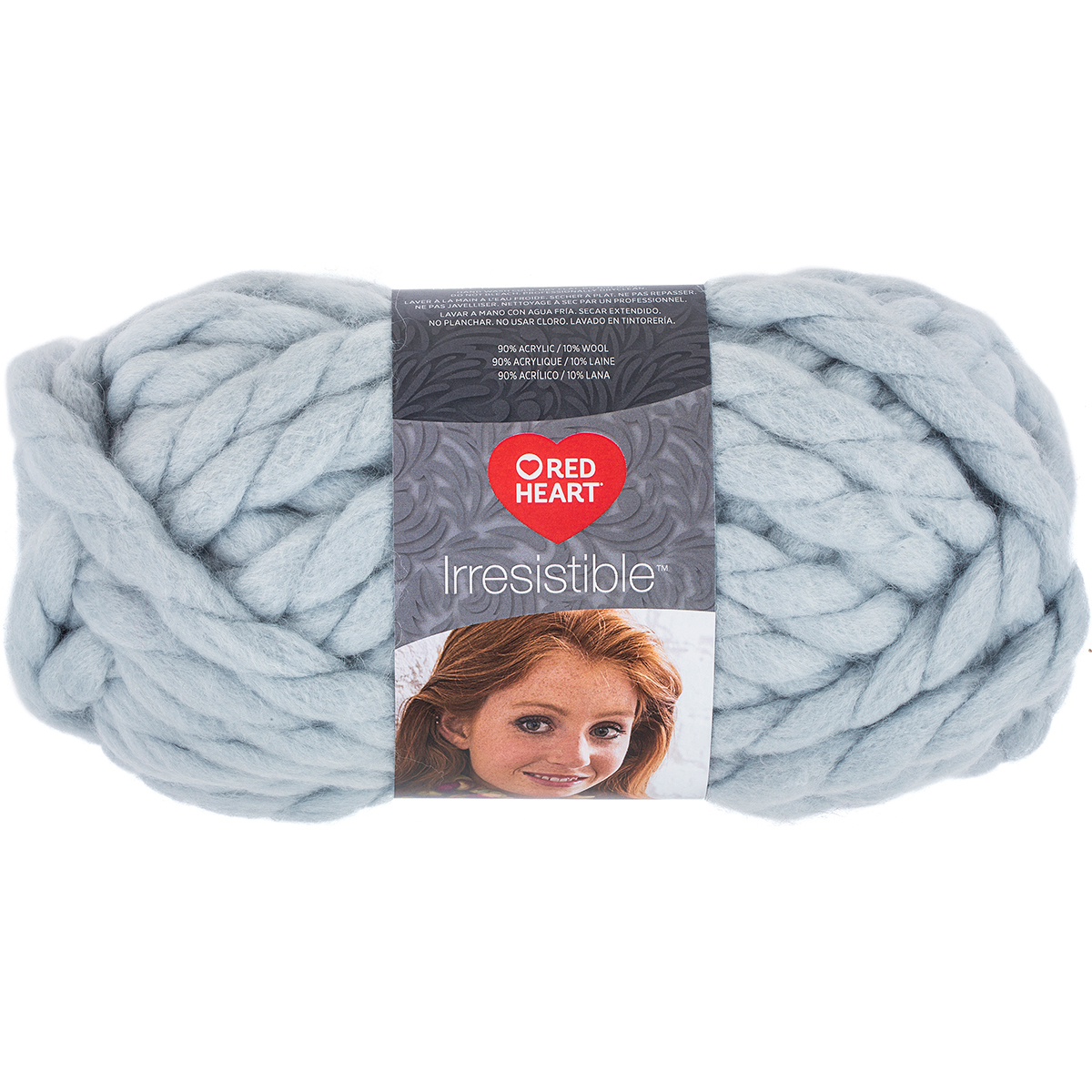 Red Heart Irresistible Yarn-Silver