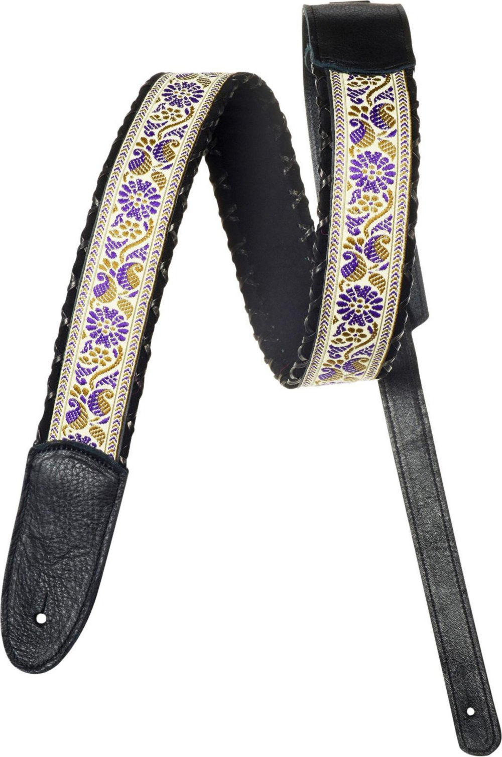 Jodi Head Harley Black Ice Guitar Strap Purple and Black 2 in. by Jodi Head
