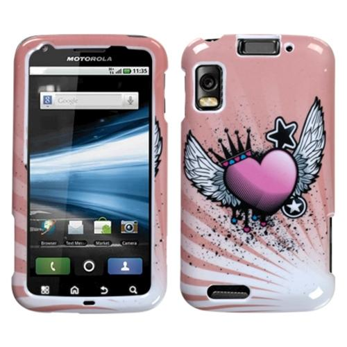 Insten Crowned Heart Phone Case for MOTOROLA: MB860 (Olympus/Atrix 4G)